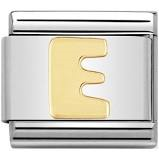 Nomination Gold Letter E Link