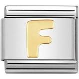 Nomination Gold Letter F Link