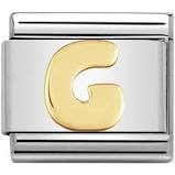 Nomination Gold Letter G Link