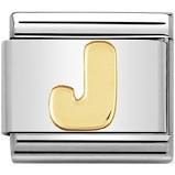 Nomination Gold Letter J Link