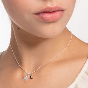Thomas Sabo silver Star and Moon Necklace