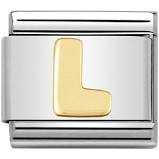 Nomination Gold Letter L Link