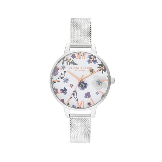 Olivia Burton Artisan Rose Gold and Silver Mesh Watch