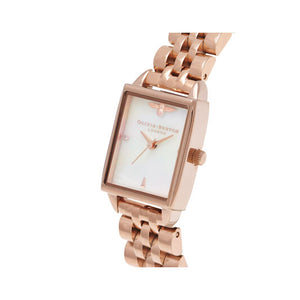 Olivia Burton Bee Hive Mother of Pearl and Rose Gold Watch