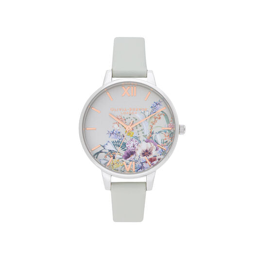Olivia Burton Enchanted Garden Vegan Grey and Silver Watch