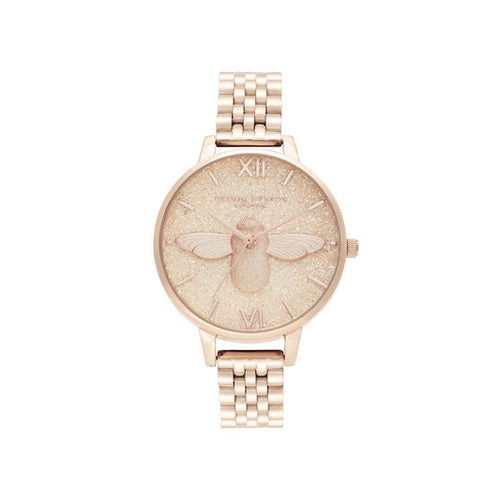 Olivia Burton 3D Bee Pale Rose Gold Watch