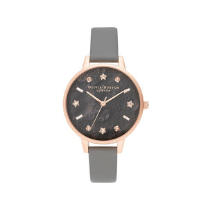 Olivia Burton Celestial Vegan London Grey and Rose Gold Watch