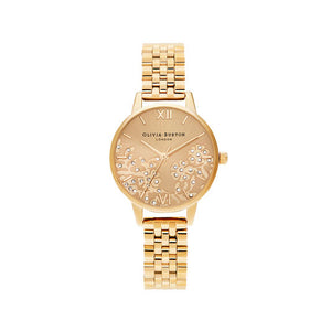 Olivia Burton Bejewelled Lace Gold Bracelet Watch