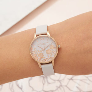 Olivia Burton Lace Detail Blush and Rose Gold Watch