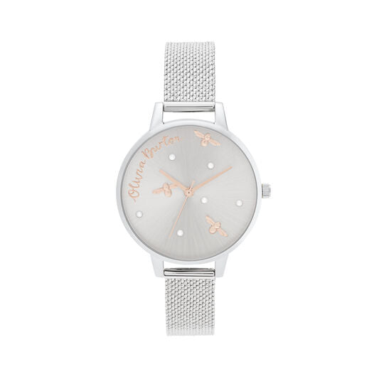 Olivia Burton Pearly Queen Rose Gold and Silver Watch