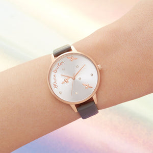 Olivia Burton Pearly Queen Vegan London Grey and Rose Gold Watch
