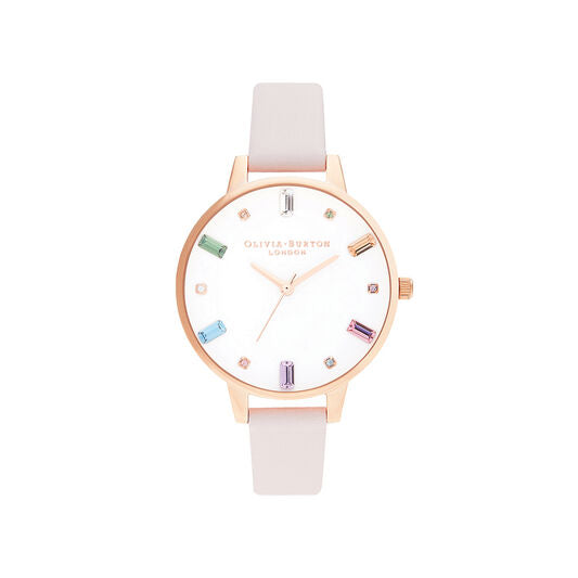 Olivia Burton Rainbow Blossom and Rose Gold Watch