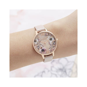 Olivia Burton Semi Precious Pink and Rose Gold Watch