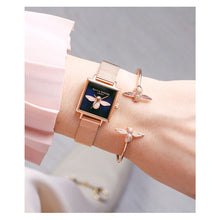 Olivia Burton 3D Bee Open End Bangle Rose Gold