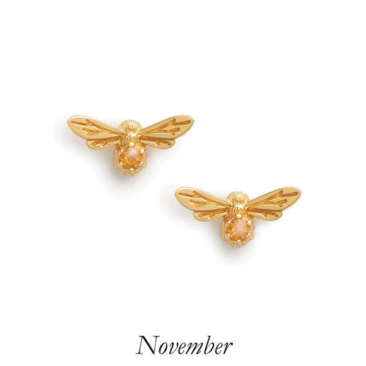 Olivia Burton Celebration Stones Bee Studs November