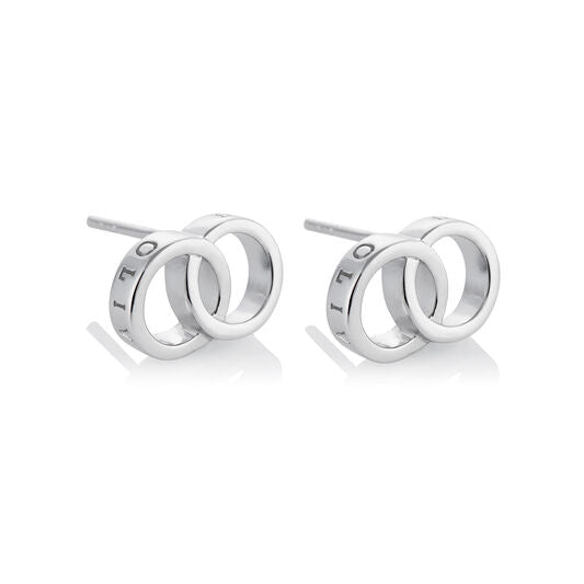 Olivia Burton Classics Interlink Earrings Silver