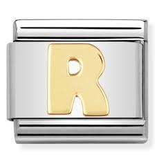 Nomination Gold Letter R Link
