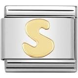 Nomination Gold Letter S Link