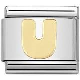 Nomination Gold Letter U Link
