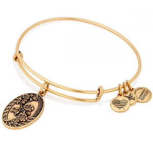 Alex and Ani Gold Granddaughter expandable bracelet