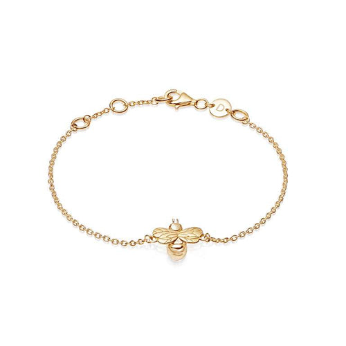 Daisy Gold Bumble Bee Bracelet