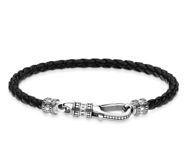 Thomas Sabo leather bracelet with silver lobster clasp