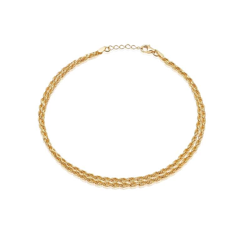Daisy London 18ct gold plated Isla Double rope bracelet
