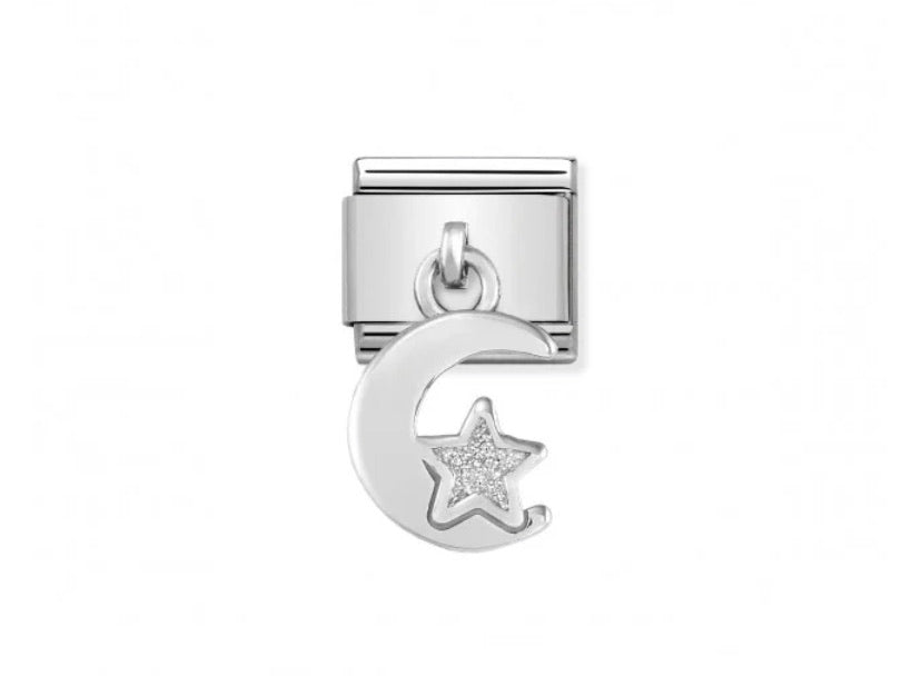 Nomination classic Moon and Star hanging silver link