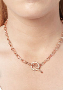 Olivia Burton Rose Gold plated T bar necklace