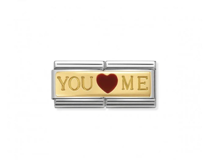 Nomination classic double 18ct gold link You and Me