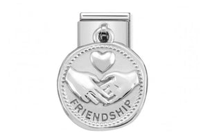 Nomination classic pendant coin link Friendship