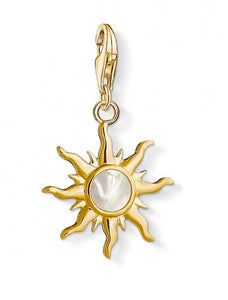 Thomas sabo gold sun charm with mother of pearl