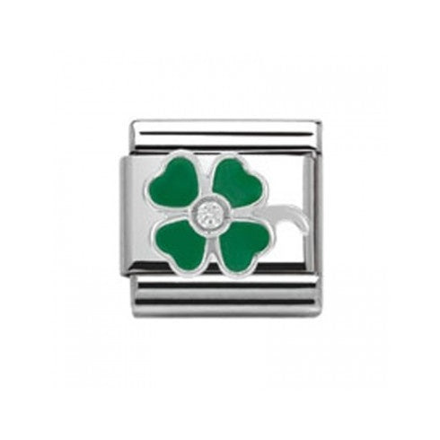 Nomination Green Clover classic link charm