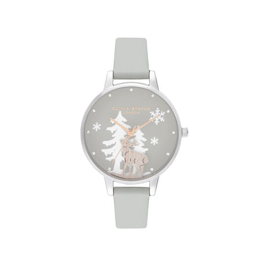 Olivia Burton Winter Wonderland Vegan Grey Watch