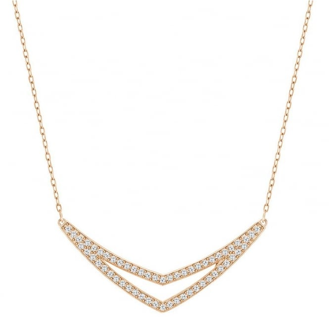 Swarovski Alpha Rose Gold Necklace