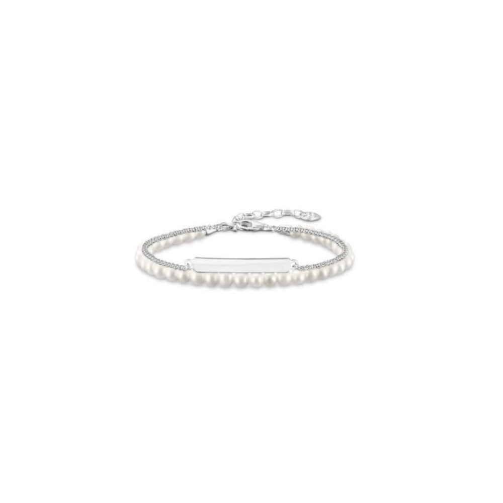 Thomas Sabo Silver and Pearl Love Bridge
