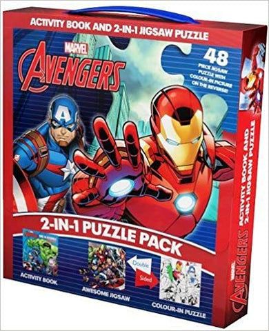 Marvel Avengers 2-in-1 Jigsaw Puzzle & Activity Book