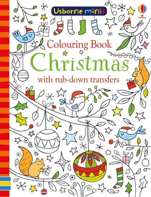 Usborne Colouring Book Christmas with Rub-Down Transfers