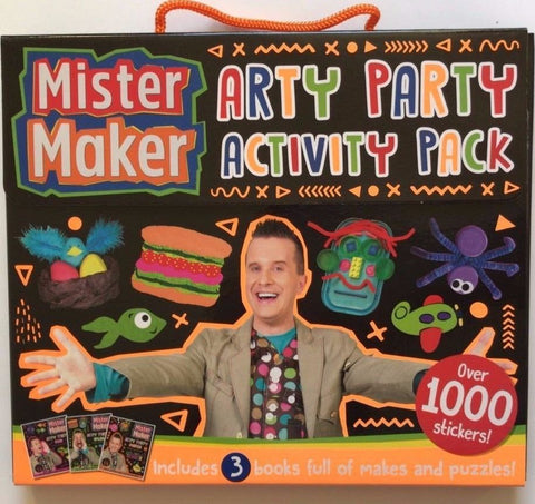 Mister Maker Arty Party Activity Pack with over 1000 Stickers, Kids Age 4-9 year