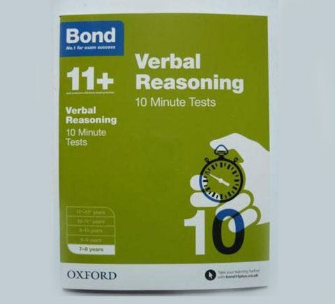 Bond 11 10 minute Tests English Maths Verbal Nonverbal reasoning age 7 8 Year 3