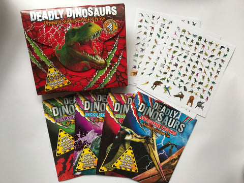 Deadly Dinosaurs Pack Of 4 Ultimate Sticker Fun