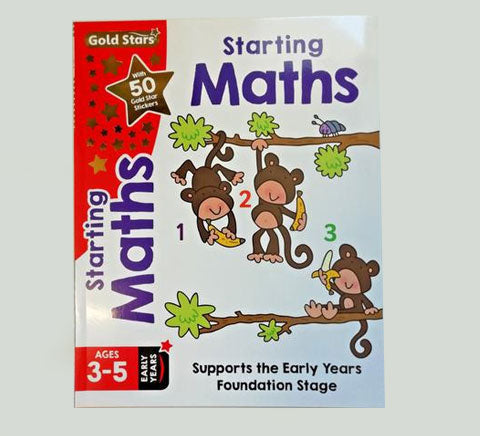 Gold Star Early Learning Pre School Pack of 6 Workbooks Maths English Writing