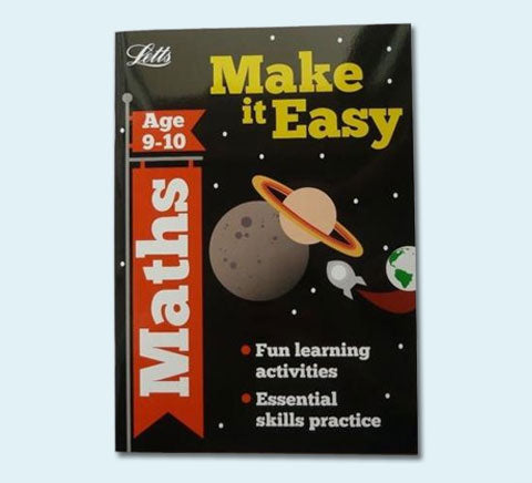 New Letts Make it Easy Maths English Workbooks Children Age 9 10 KS2 Year 5