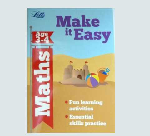 Letts Make it Easy English Maths Workbooks Children Age 3 4 PreSchool EYFS New