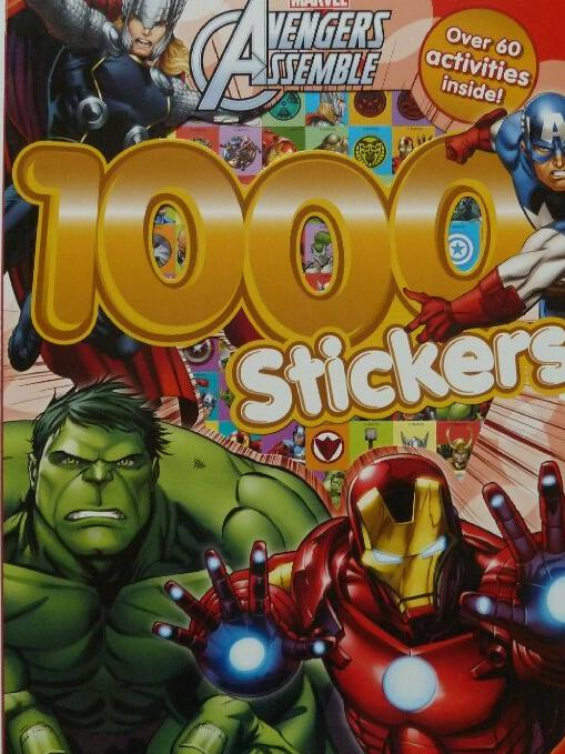 MARVEL Avengers Assemble 1000 Stickers Book Over 60 FUN Activities NEW