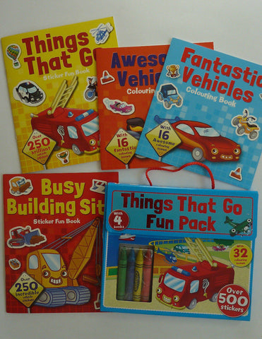 Things That Go Fun Activity Pack