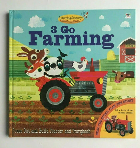 3 Go Farming Press out & Build Tractor Pirate ship Play Story Book Ages 3+