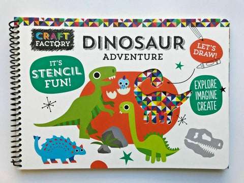 Dinosaur Adventure It's Stencil Fun Explore Imagine Creat Book Ages 3+