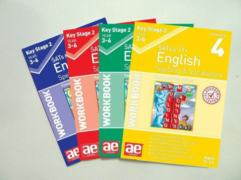 KS2 English Spelling & Vocabulary Sats & 11+ Workbook Pack Ages 7-11