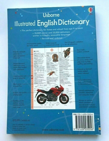 KS2 Usborne Illustrated English Dictionary Over 1000 Illustrations Ages 9+